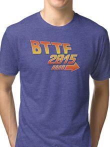 Back to the future 2015 Logo Tri-blend T-Shirt