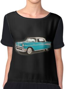vintage chevrolet blue | Cars Chiffon Top