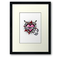 Heart Crest - Knives  Framed Print