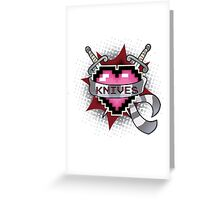 Heart Crest - Knives  Greeting Card