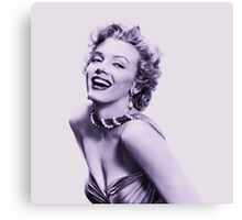 Marilyn Monroe in Violet Canvas Print