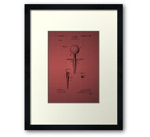 Golf Tee Patent 1899 - burgundy Framed Print