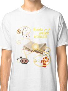 Books Unlock Worlds Classic T-Shirt