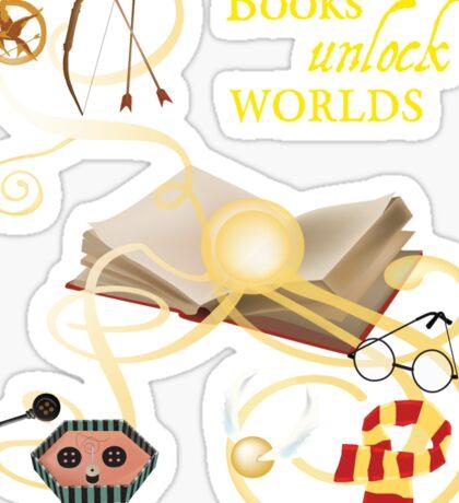 Books Unlock Worlds Sticker