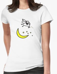 Over the Moon - Cow Love Womens Fitted T-Shirt