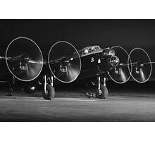 Lancaster Engine run at night Photographic Print