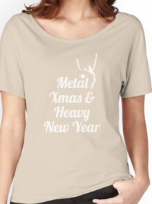 Heavy metal Christmas New Year Women's Relaxed Fit T-Shirt