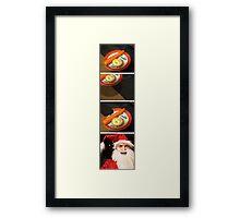 Jaws Santa Framed Print