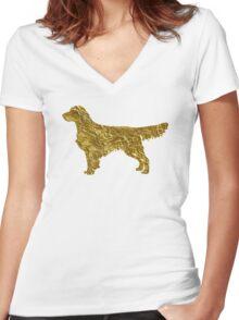 Golden retriever Women's Fitted V-Neck T-Shirt