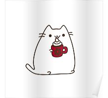 Cute Kawaii Hot Cocoa Cat Poster