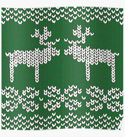 green christmas jumper Poster