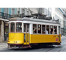 Yellow tram of Lisbon - Portugal Photographic Print