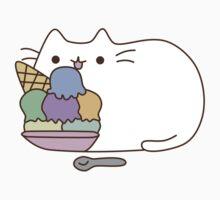 Cute Kawaii Ice Cream Cat Kids Tee