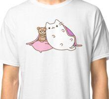 Cute Kawaii Sleepy Cat Classic T-Shirt
