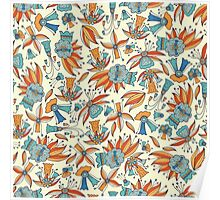 Abstract floral pattern design by Somberlain Poster