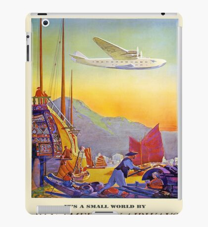 Vintage poster - Transpacific Flight iPad Case/Skin