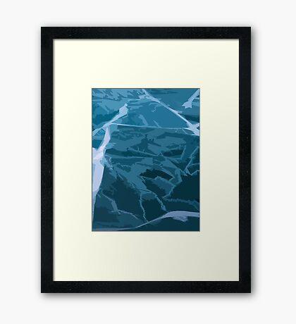Scattered Ice Framed Print