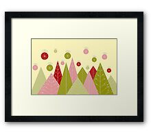 Ornaments and Trees Framed Print