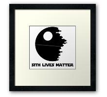 Sith Lives Matter Framed Print