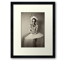 Drama queen in black and white   Framed Print