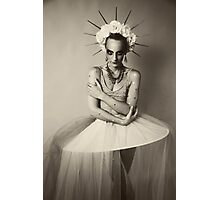 Drama queen in black and white   Photographic Print
