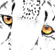 Snow Leopard Watercolour Sticker