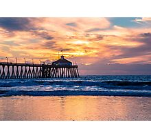 Imperial Beach Pier Sunset Photographic Print