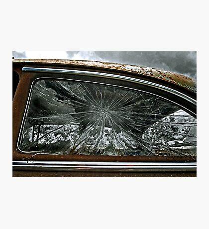 Cracked Window Photographic Print