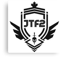 JTF2 - Black Canvas Print