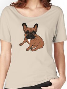 Red Fawn Frenchie Women's Relaxed Fit T-Shirt