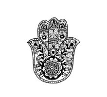 The Hamsa Hand Photographic Print