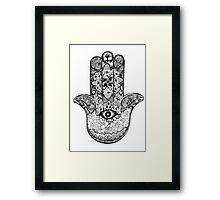 Hamsa Hand 2.0 Framed Print
