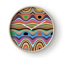 Abstract Dots and Squiggles Clock