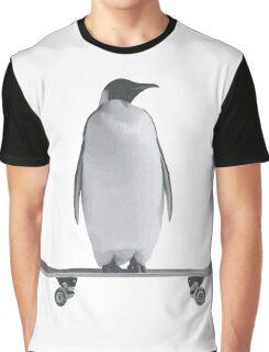 Penguin Skateboard Graphic T-Shirt