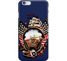 American Navy Ship Eagle Tattoo design iPhone Case/Skin