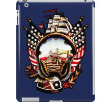 American Navy Ship Eagle Tattoo design iPad Case/Skin