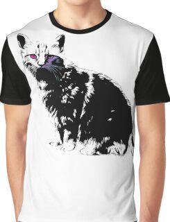 Black Cat for Kitten Cat Lovers Artwork T-Shirt by Cyrca Originals Graphic T-Shirt