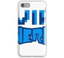 nerd geek schlau pixel gamer 8 bit cool design retro alt look gold vip wichtig person  iPhone Case/Skin