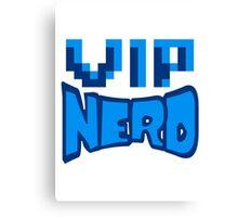 nerd geek schlau pixel gamer 8 bit cool design retro alt look gold vip wichtig person  Canvas Print