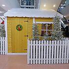 Santa's Log Cabin by Fara