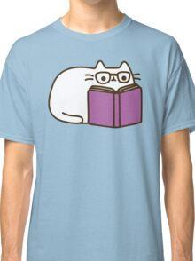 Cute Kawaii Nerd Cat Classic T-Shirt