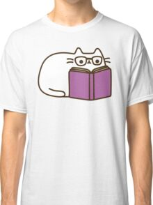 Cute Kawaii Nerd Cat Classic T-Shirt
