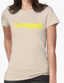 Ferragosto Italian Summer Holiday - Yellow logo Womens Fitted T-Shirt