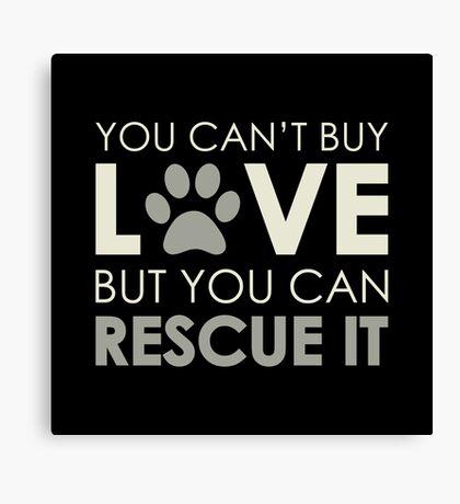 Rescue Love Canvas Print