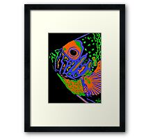 Angel Fish Swimming in the Sea #2 Framed Print