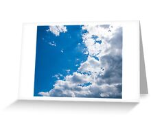 Blue, white, blue, blue Greeting Card