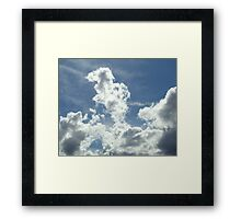 White clouds Framed Print