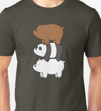 We Bare Bears Stacked Up Unisex T-Shirt
