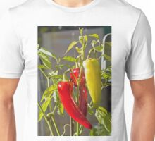 Sweet Banana Peppers in Greenhouse Unisex T-Shirt