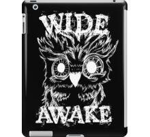 Wide Awake Owl - White iPad Case/Skin